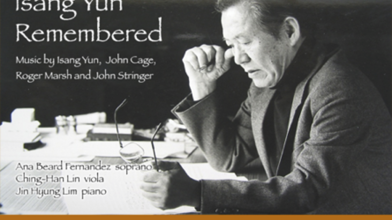 Isang Yun remembered concert poster